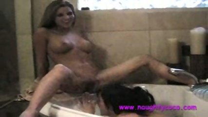 Nicole Graves In Hot Lesbian Hot Tub Action - scene 9