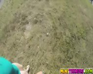 Molly Jane Sucked And Fucked Dick Behind Bushes