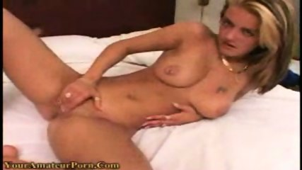 Hot blonde playing with her toy - scene 12