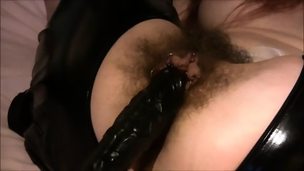Big Dick Stuffing A Heavily Pierced Hairy Mature Pussy - scene 7