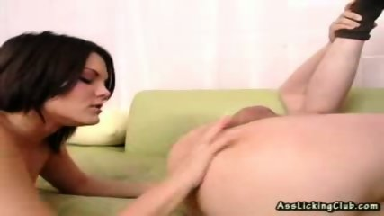 Ass-hungry brunete cannot seem to get enough of licking ass - scene 11