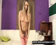 Playful Blonde Gets Her Nude Body All Wet