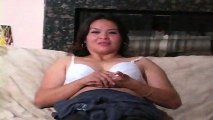Chunky MILF in White Bra - scene 3