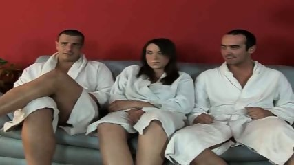 Bathrobe comes off and both holes are stuffed - scene 1