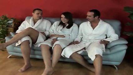 Bathrobe comes off and both holes are stuffed - scene 2