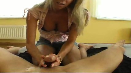 Sensual handjob with oil