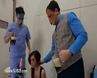 Extreme Violently Penetrated Bdsm Babe With Ropes