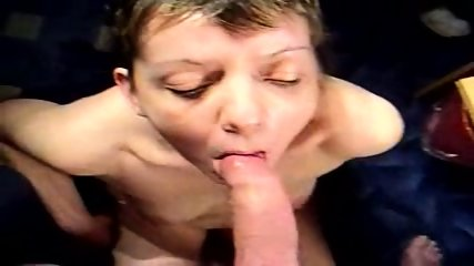 Milf amateur blowjob and facial - scene 1