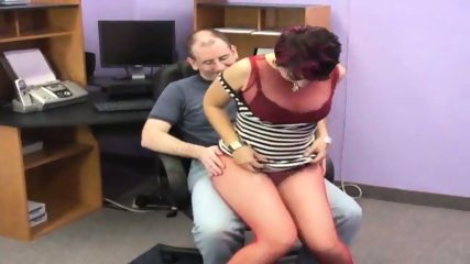 Raven in red pantyhose blows the geek - scene 1