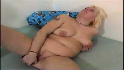 Chubby mom plays with her chubby pussy - scene 8