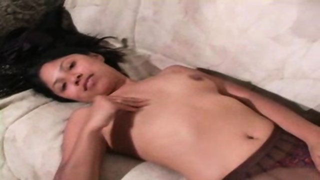 cute exotic girl in pantyhose strps and gets fucked