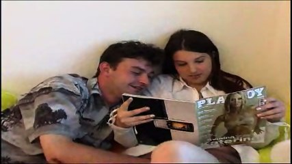 reading Playboy together keeps the couple together (part 1) - scene 1