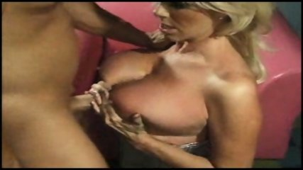 Blonde big titted MILF takes it hard in her arse - scene 12