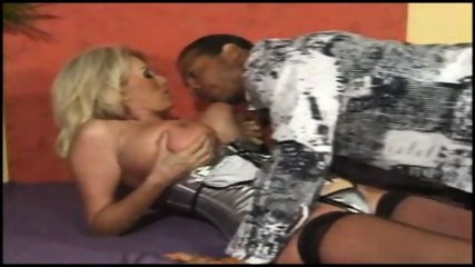 Blonde big titted MILF takes it hard in her arse - scene 2