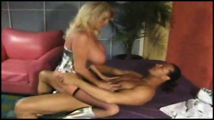 Blonde big titted MILF takes it hard in her arse - scene 7