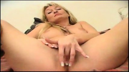 sexy blonde shoves an orange in her ass - scene 12