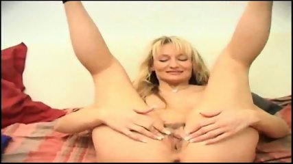 sexy blonde shoves an orange in her ass - scene 7