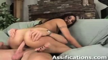 This chick gets a brutal ass pounding - scene 8