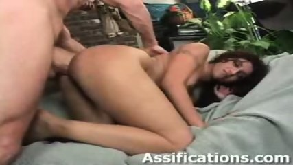 This chick gets a brutal ass pounding - scene 2