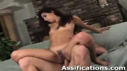 This chick gets a brutal ass pounding - scene 5