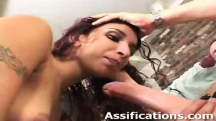 This chick gets a brutal ass pounding - scene 6