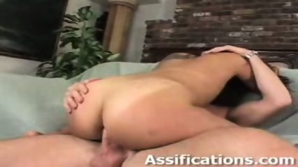 This chick gets a brutal ass pounding - scene 7