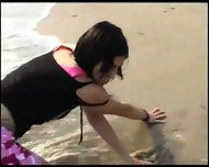Stripping in the Surf - scene 2
