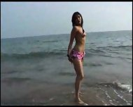 Stripping in the Surf - scene 4
