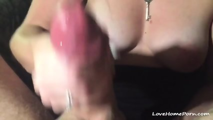 Busty Milf Jerking On A Huge Cock Until It Cums Hard - scene 12
