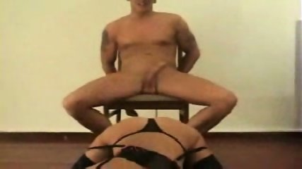 Couple fucks hard on chair - scene 3