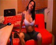 Gigi's big tits encased in a white bra - scene 3