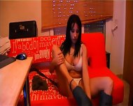 Gigi's big tits encased in a white bra - scene 4