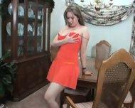 solo in orange dress - scene 1