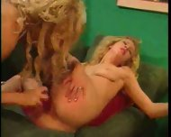 Cupid's sister takes big dildos from a mean skank. - scene 11