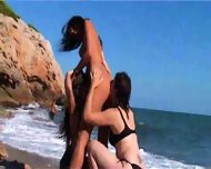 Beautiful beach...beautiful lesbians - scene 2