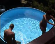 MILF takes on a bunch of guys at a pool (Part 6) - scene 3