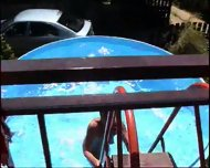 MILF takes on a bunch of guys at a pool (Part 1) - scene 1