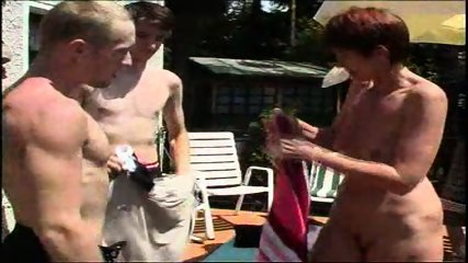 MILF takes on a bunch of guys at a pool (Part 1) - scene 3
