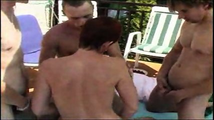 MILF takes on a bunch of guys at a pool (Part 1) - scene 6