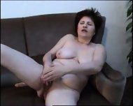 MILF in pantyhose plays - scene 11