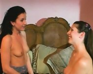 Two brunettes get fucked - scene 1