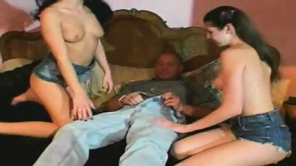 Two brunettes get fucked - scene 2