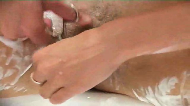 girl next door shaving