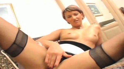 cute short haired Muscovite takes it in her ass - scene 3