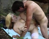 blond girl gets analized on beach - scene 8