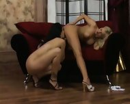 Lezzie Love On A Red Couch - scene 7