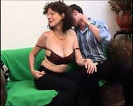 Russian Mature with a real hairy cunt - scene 1