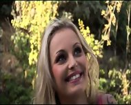 Blonde hottie makes a hot visit - scene 1