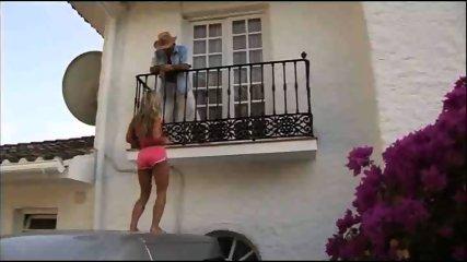Blonde hottie makes a hot visit - scene 2