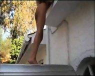 Blonde hottie makes a hot visit - scene 4